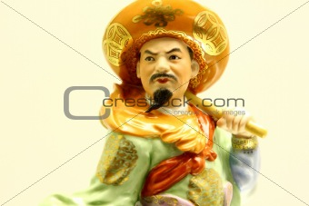 Ceramic Chinese statuette