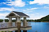 lake and kiosk