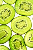 Sliced Kiwifruit isolated on white studio shot