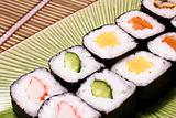 Japanese sushi on a plate