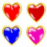 Symbols heart miscellaneous of the colour