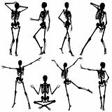 Collect skeleton silhouettes