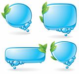 Eco speech bubble set