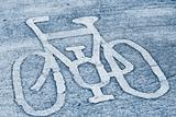 Bicycle road sign.