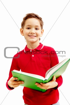 Boy with textbook