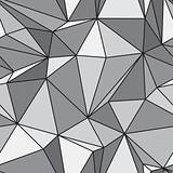 Seamless texture - gray polyhedra - vector