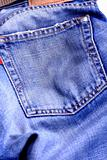 Fragment of blue modern jeans with pocket, can be used as a background.