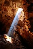 Nice sun ray in cave