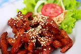 fried pork with sesame