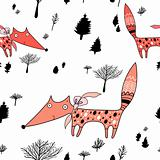 texture of foxes in the woods