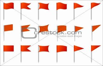 Flag pins
