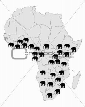 African elephant range