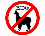 Alpaca in zoo prohibited