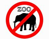 Elephant in zoo prohibited