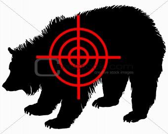 Grizzly bear crosshair