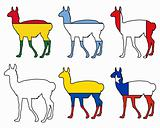 Guanaco flags