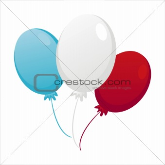 american colored balloons