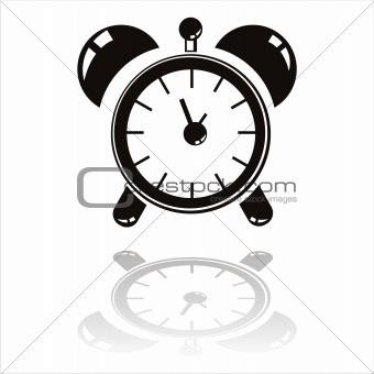 black clock icon