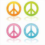 colorful peace symbols