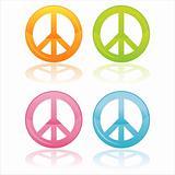 colorful peace symbols