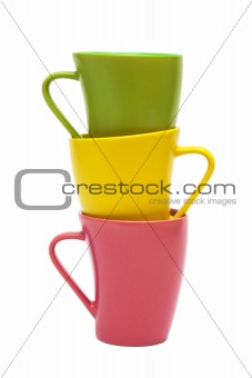 Beautiful color mugs