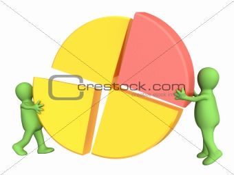 3d puppets, making the round diagram