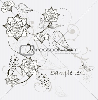 beautiful decorative flower background