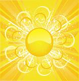 Stylized sun background