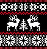Christmas nordic pattern on black