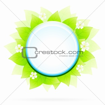 Green floral icon
