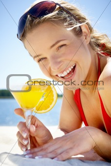 Girl with cocktail