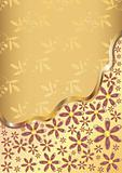 Gold flower background