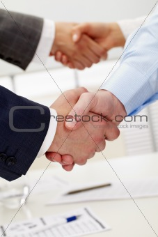 Pair of handshakes