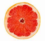 Slice of ripe grapefruit