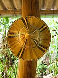 Thai bamboo farmer hat