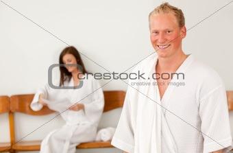Man in Spa Reception