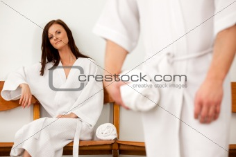 Spa Couple in Waiting Room