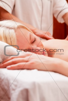 Relaxed Woman in Spa