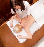 Overhead View - Spa Massage