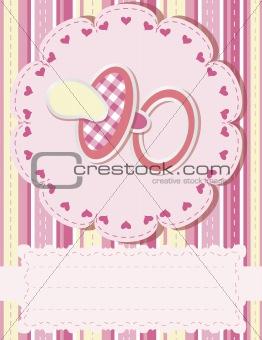 Baby greetings card