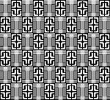 black abstract geometric pattern