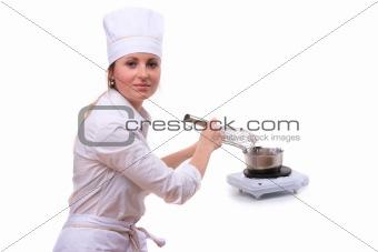 Beautiful cooking woman