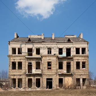 Abandoned damaged