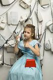 Little pretty girl with phone