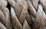 Close up of old rope texture background grunge look
