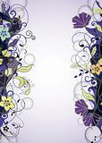 Purple Floral Frame Background