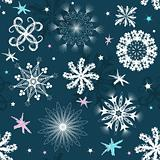 Dark blue Christmas seamless pattern