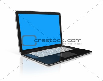 black Laptop computer isolated on white