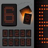 Digital LED Scoreboard Numbers