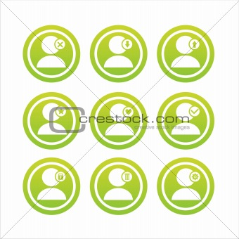 green user signs